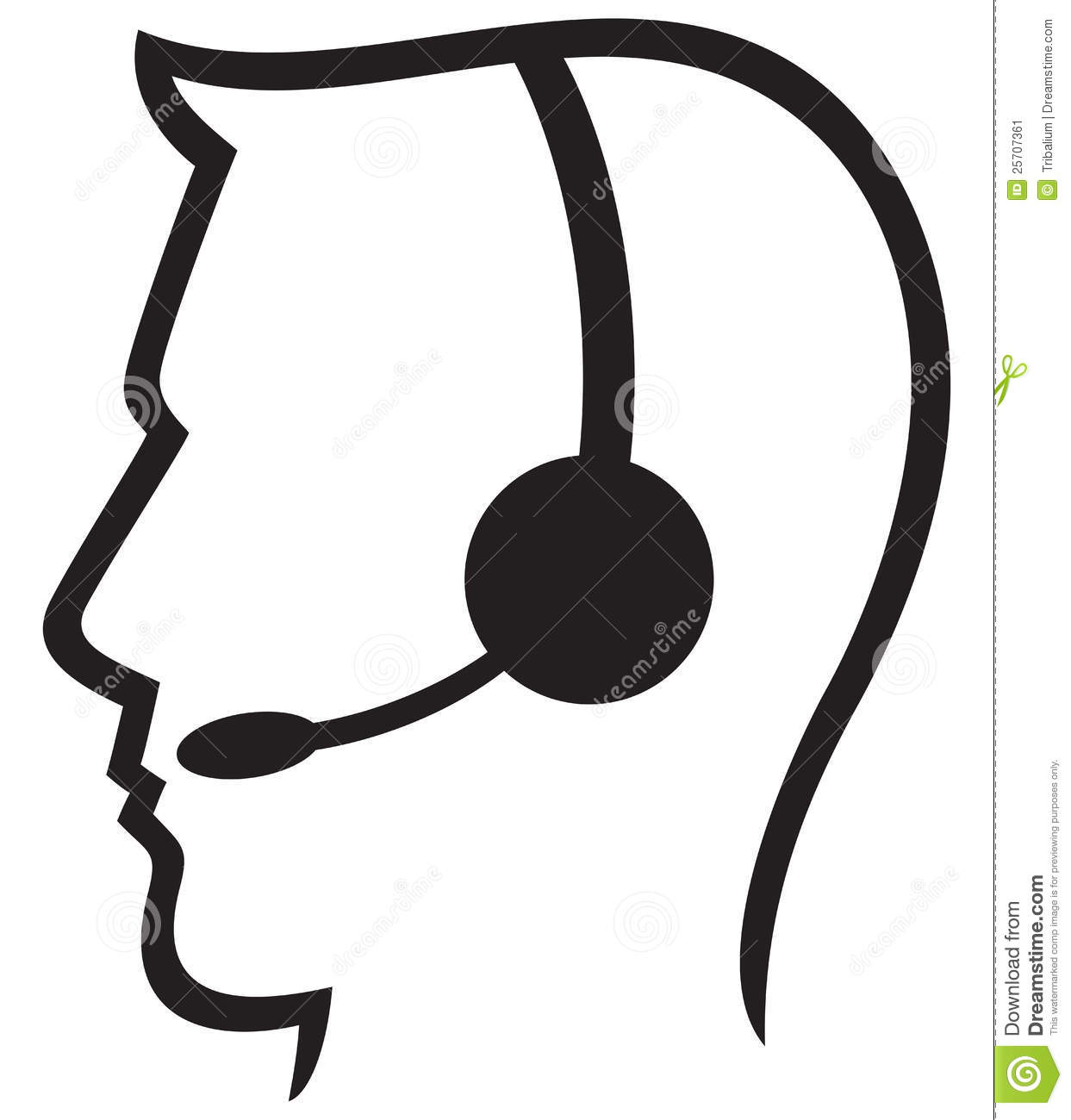 Call Center Headset Clip Art