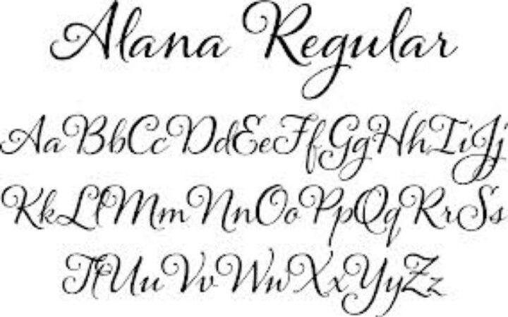 14 Calligraphy Script Font Alphabet Images - Tattoo Fonts