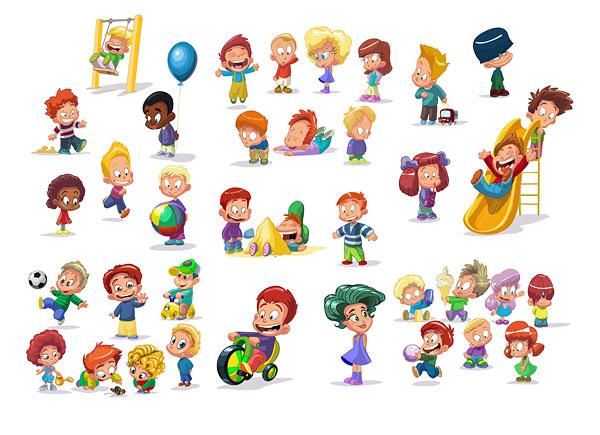 Cartoon Children Clip Art Free