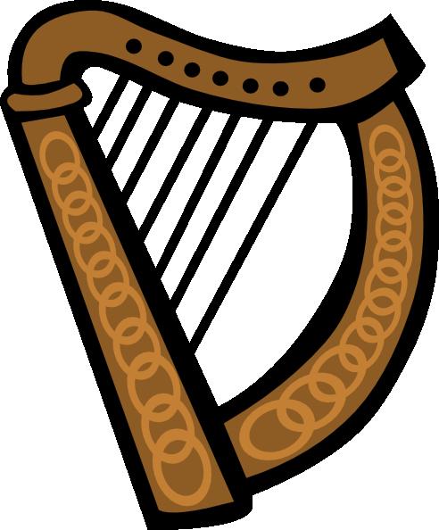 16 Gaelic Harp Vector Images