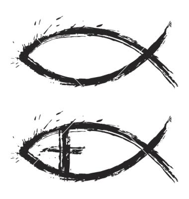 9 Jesus Fish Symbol Vector Images