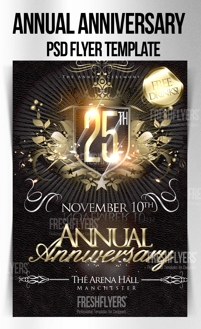 13 Anniversary Flyer Template PSD Images