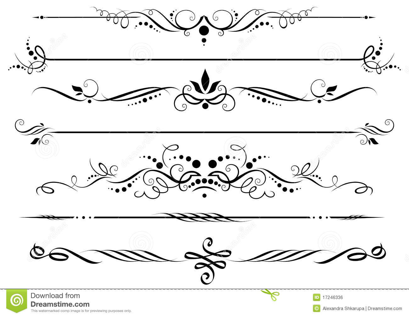 16 Decorative Lines Vector Images