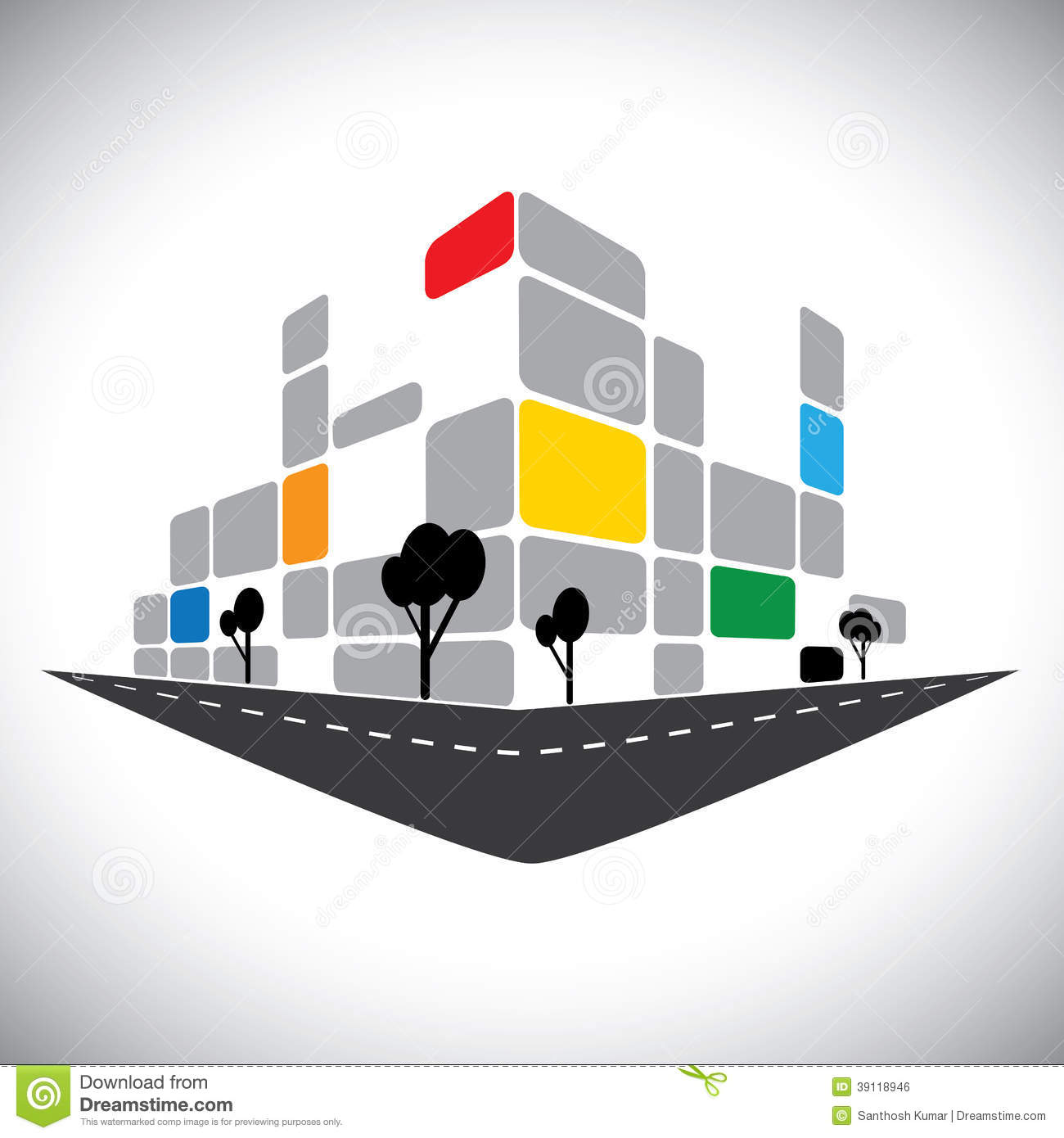 Commercial Building Vector Icon