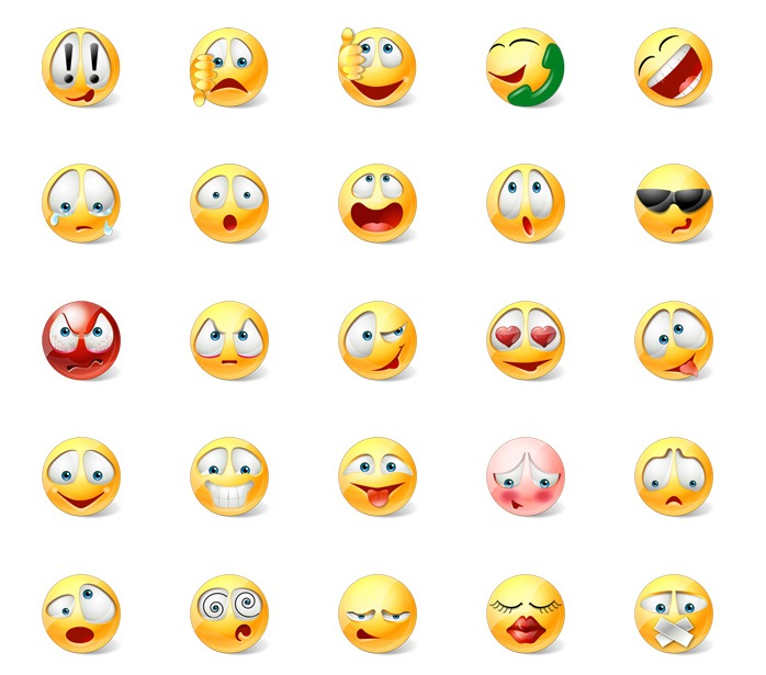 7 Cute Animated Emoticons Images