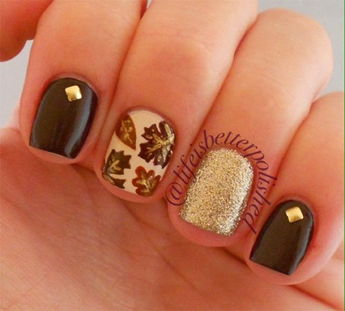 11 Easy Fall Nail Designs Images