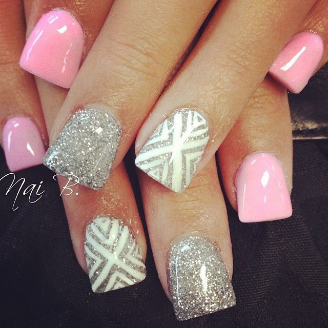 14 Cute Nail Designs Silver Images