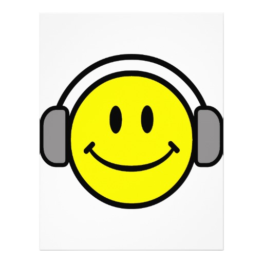 Cute Smiley Faces with Headphones