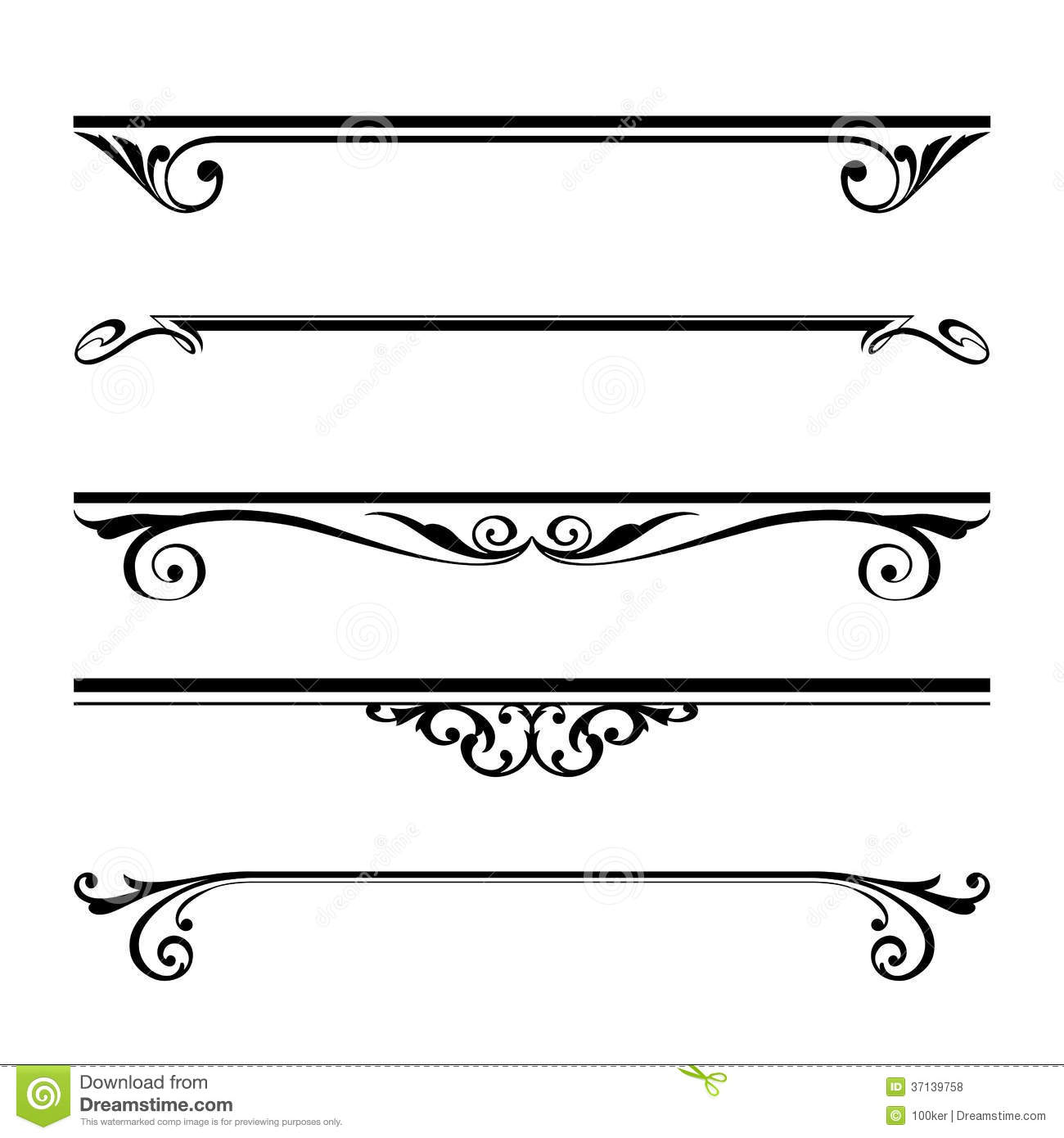 Drawing Vector Lines In Photo Cs : Decorative lines vector images line clip