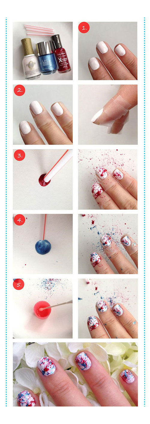 Easy Flower Nails Tutorial Flowers Healthy