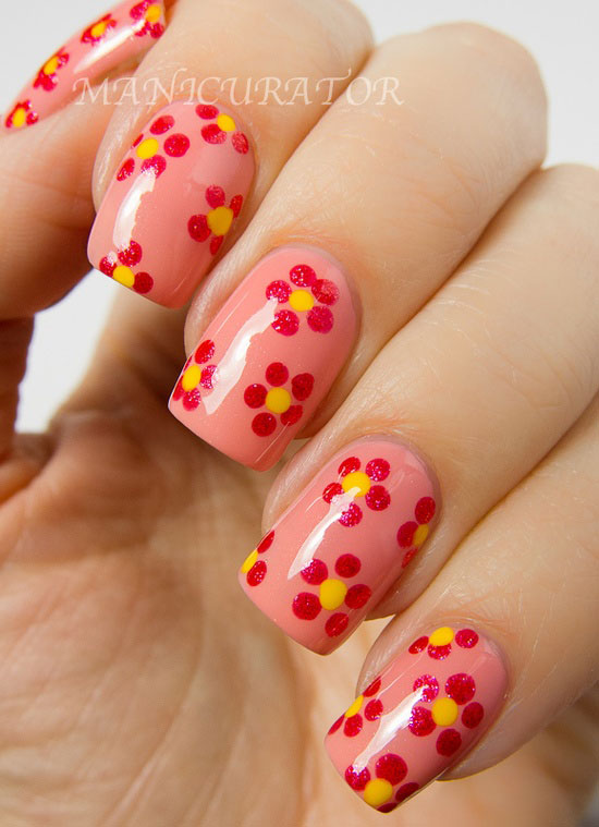 14 Easy Flower Nail Designs Images - Nail Art Designs with Flowers ...