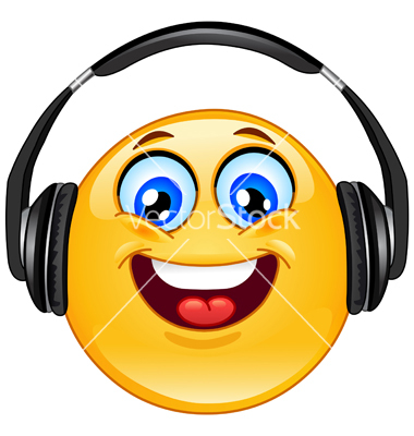 Emoticon with Headphones