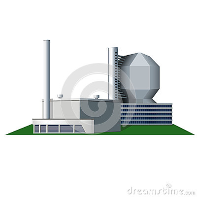 Factory Building Vector Icon