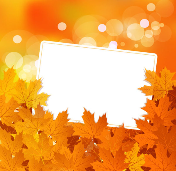 Fall Leaf Border Vector