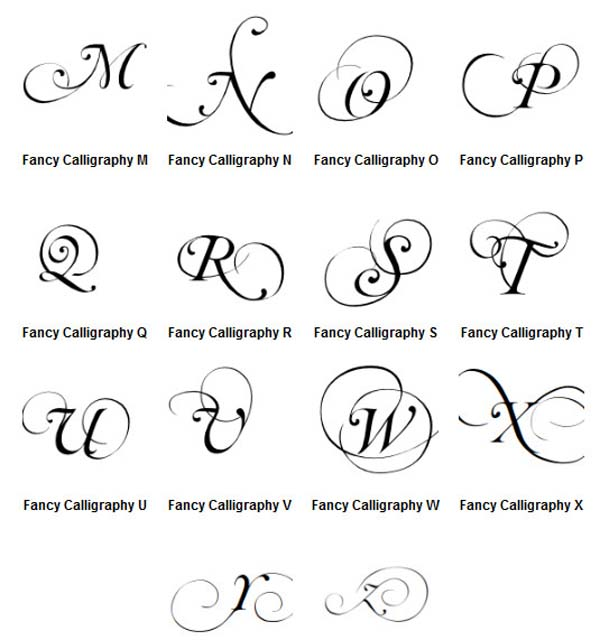 Fancy Calligraphy Graffiti Alphabet Letters A Z