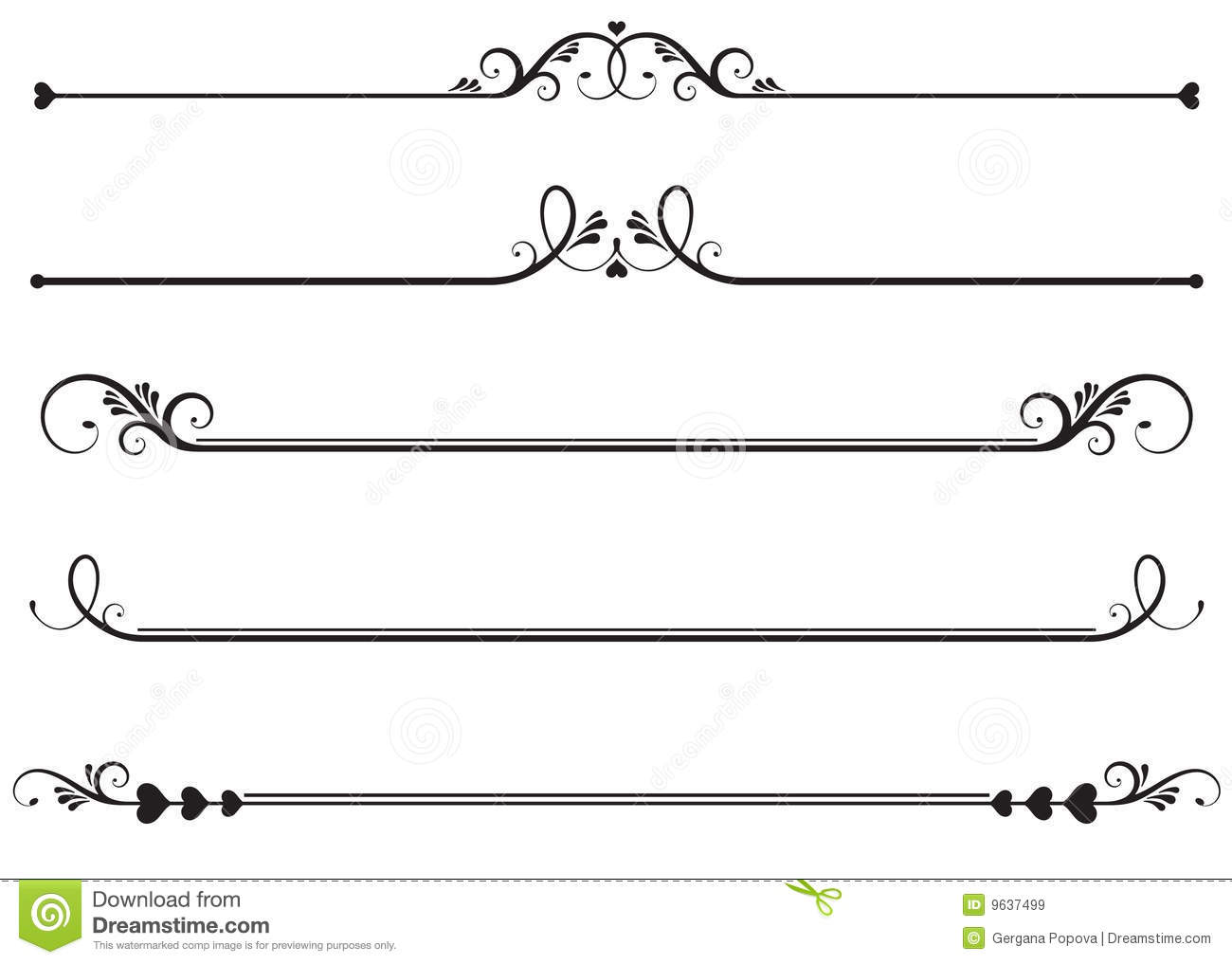 Line With Design : Decorative lines vector images line clip