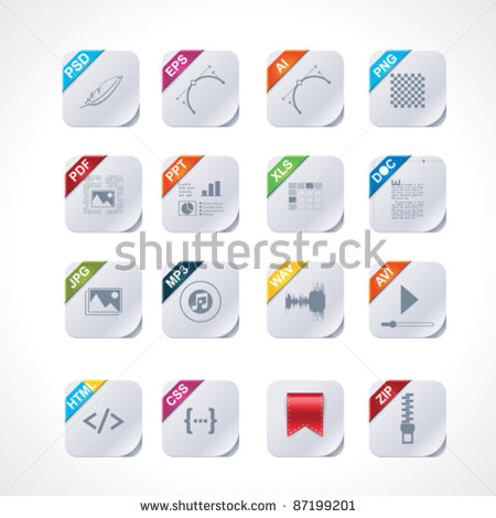 14 Icons Folder Labels 2 Images