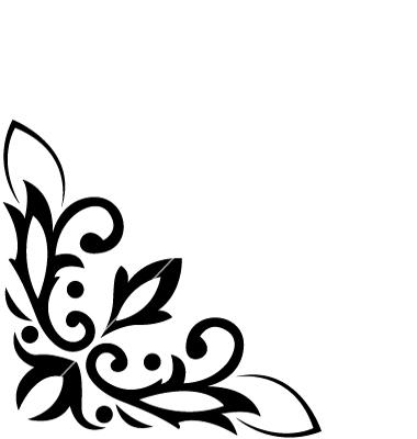 15 Corner Flower Vector Black Images