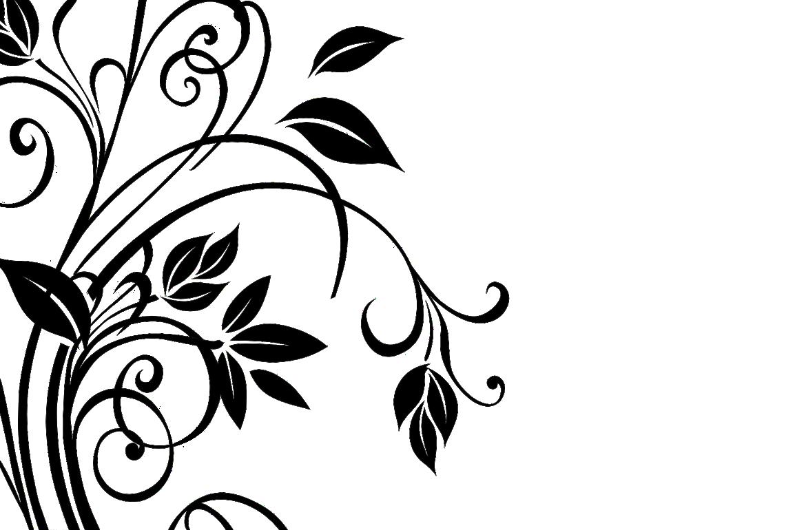 16 Floral Vector Corner Patterns PNG Images - Corner ...