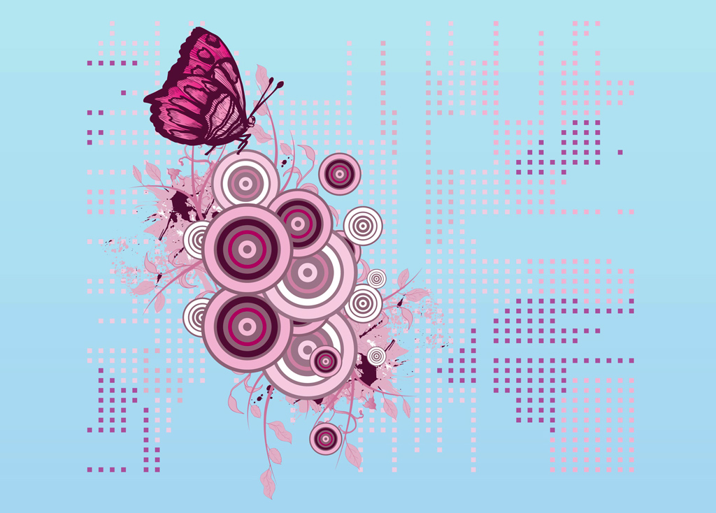 Free Butterfly Vector Clip Art