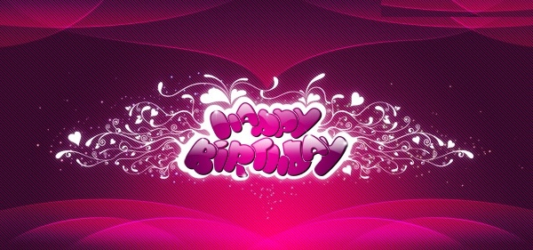Free Happy Birthday Pink Wallpaper
