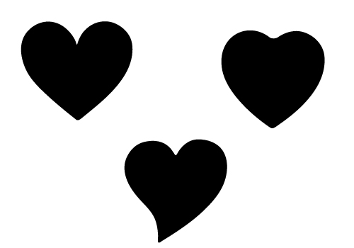 Free Heart Shape Three Silhouette