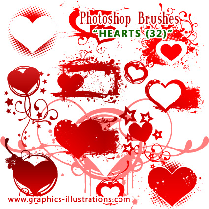 Free Photoshop Brushes Hearts