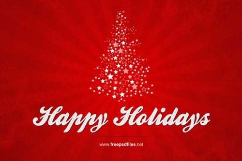 Free Photoshop Christmas Card Templates Psd