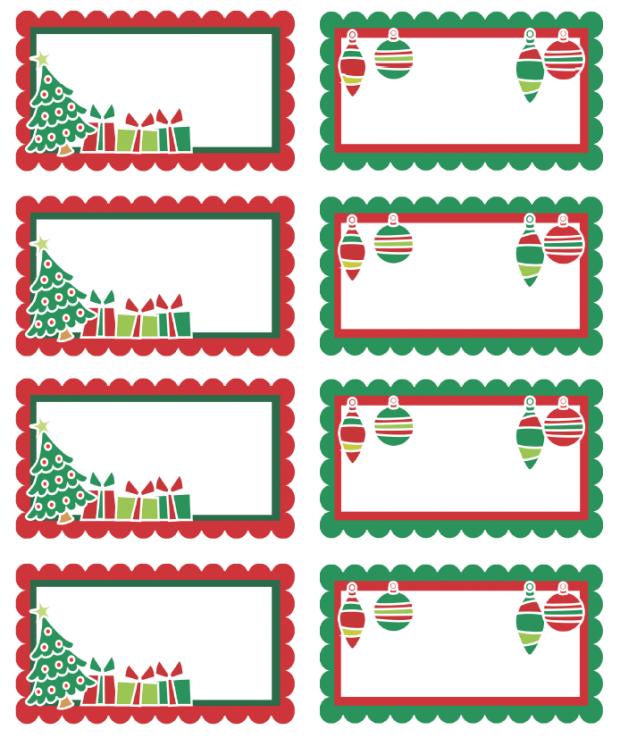 Free Printable Christmas Labels Templates
