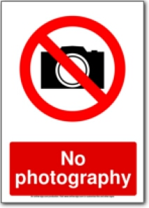 Free Printable No Photography Signs