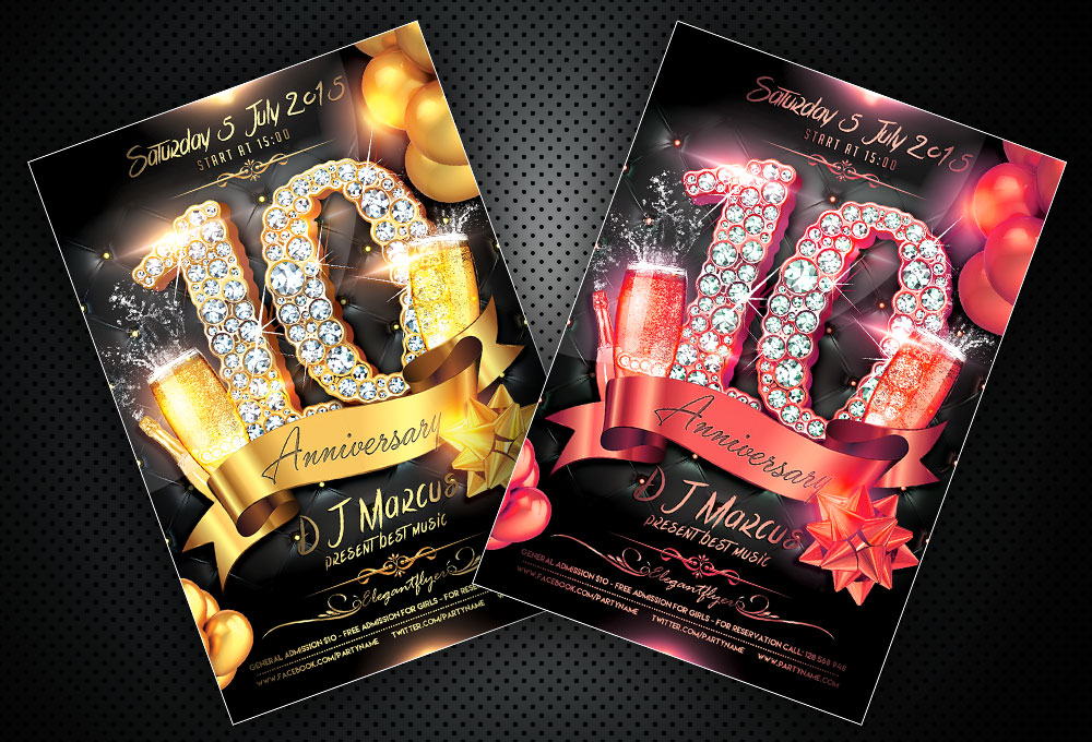 Free PSD Flyer Templates Anniversary