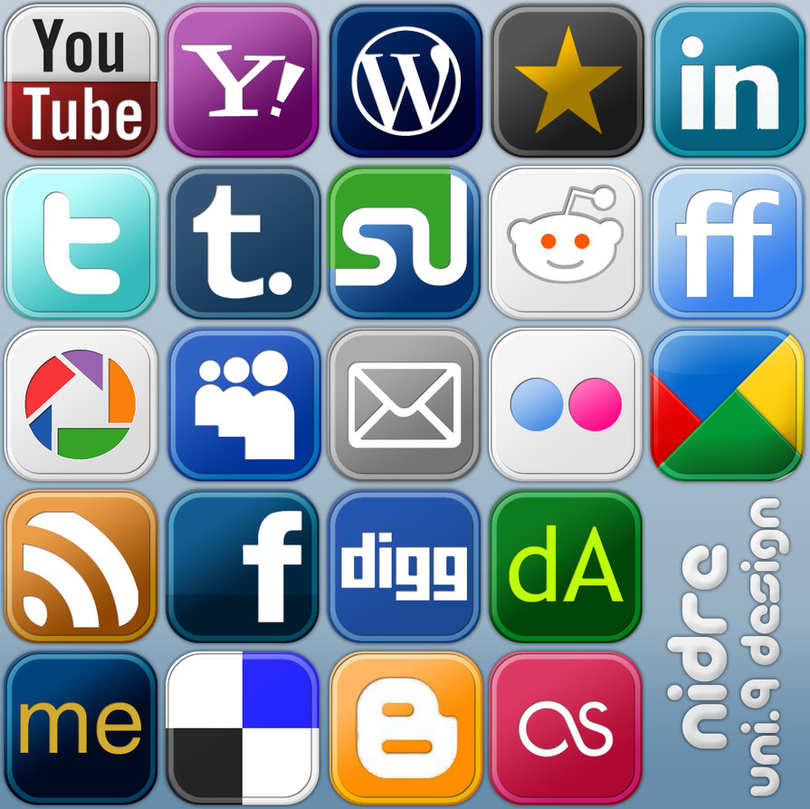 Free Social Media Icon Buttons