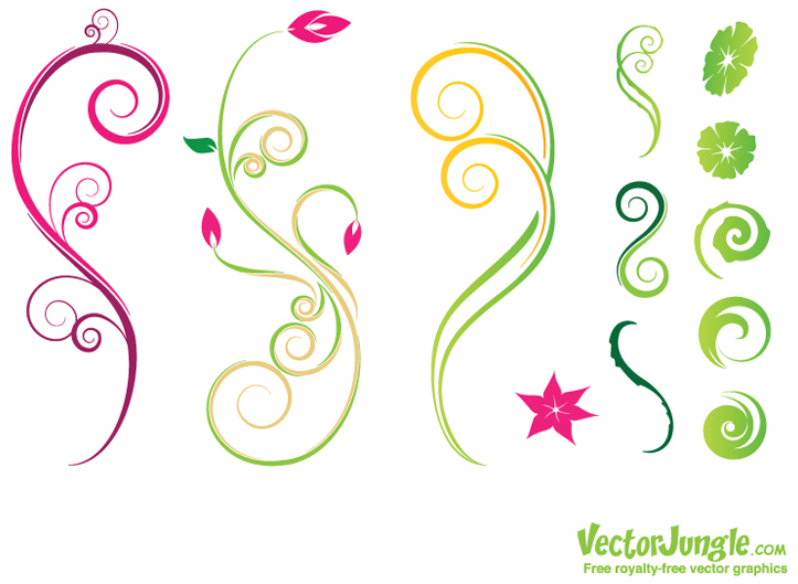 17 Flower Vector Art Graphics Images