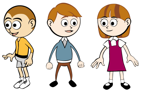 Free Vector Clip Art Cartoon Children