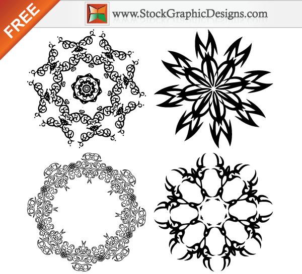 16 Ornamental Vector Design Elements Images