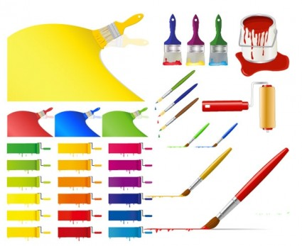 12 Ribbon Vector Paint Images