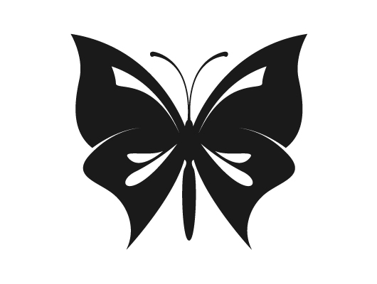 Free Vector Silhouettes Butterfly