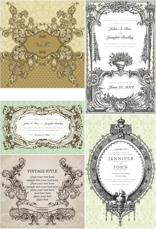Free Victorian Vector Decorative Frames