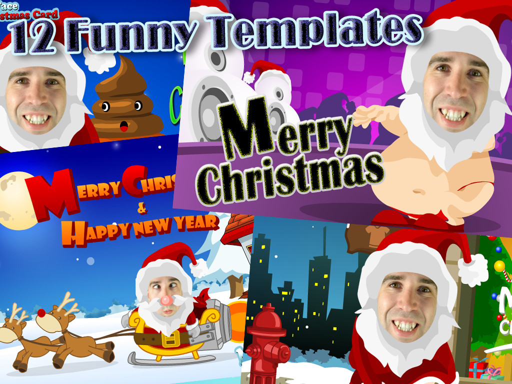 17 Funny Christmas Card Photoshop Templates Free Images