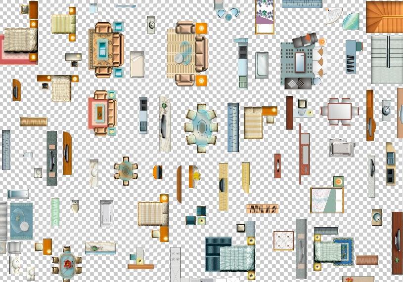 Czeshop Images Furniture Top View Psd