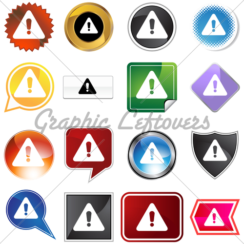Gold and Black Warning Icons
