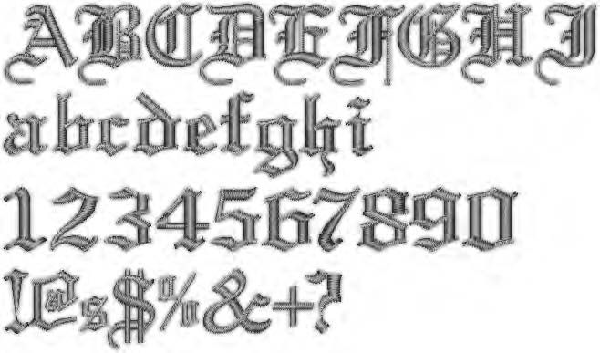 Gothic Tattoo Number Fonts