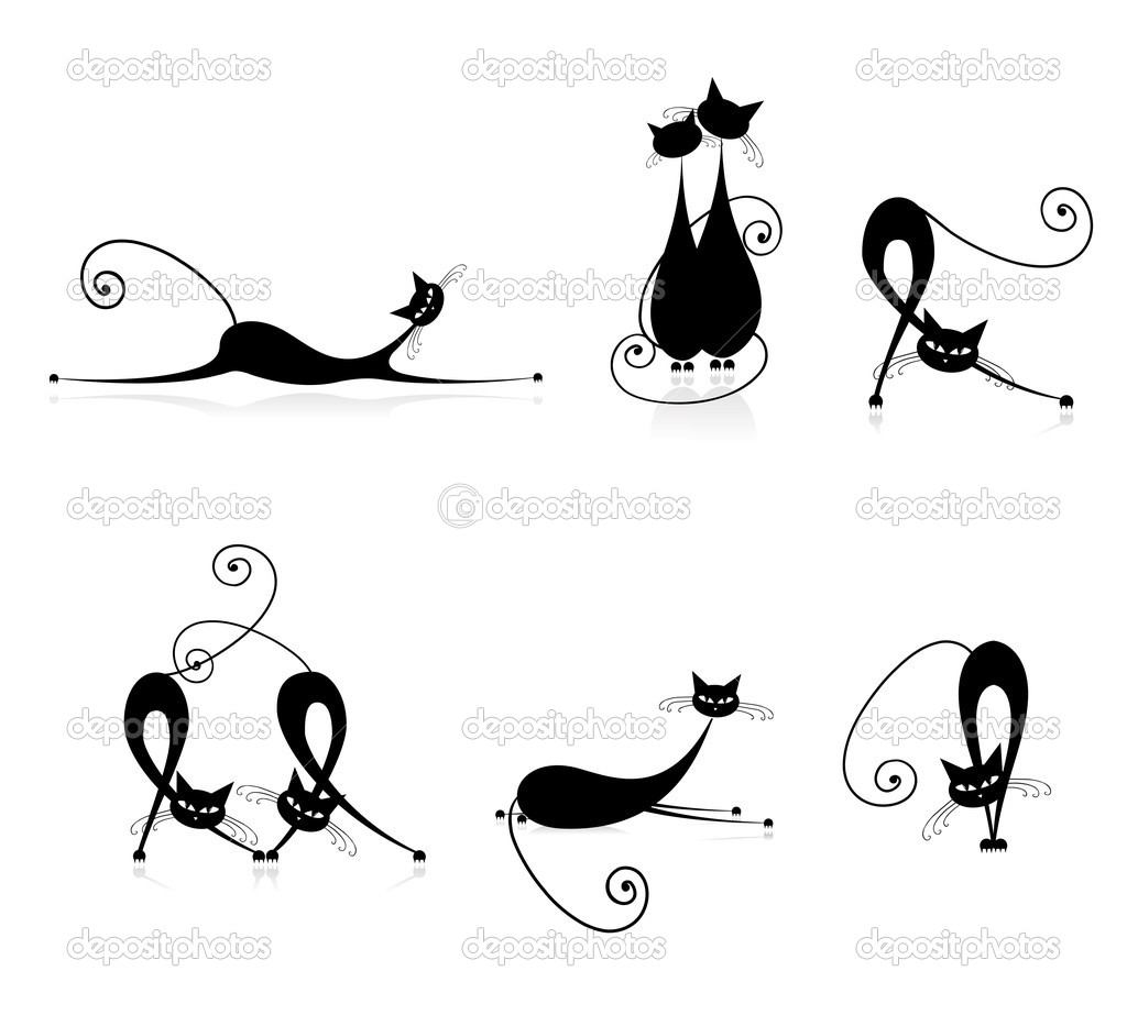Graceful Silhouettes Cats
