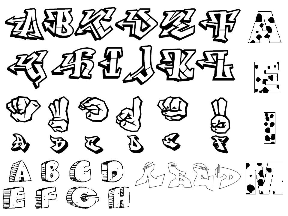 Lettering Styles Az 14 Font Images Fancy Cursive Fonts Graffiti Letters