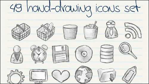 15 Free Hand Drawn Icons Infographic Images