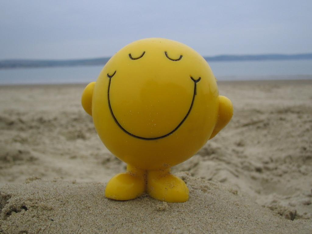 Happy Face On Beach