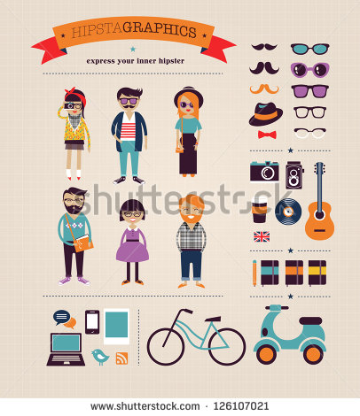 Hipster Infographic People Vector