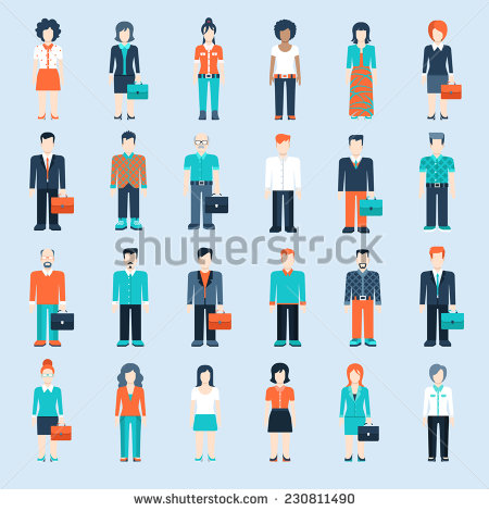 Infographic Person Icon Woman