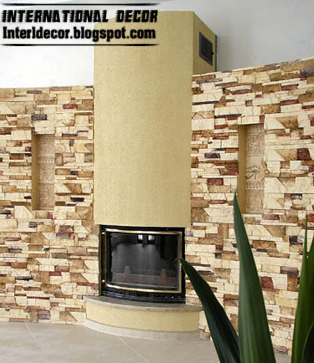 latest stone interior walls designs images hall stone wall interior with wall tiles designs - Wall Designs With Tiles