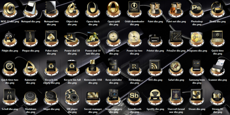 Internet Explorer Icons Black and Gold